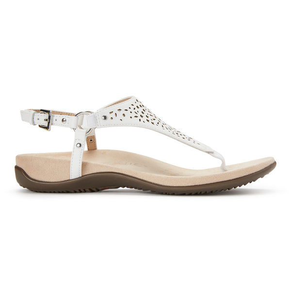 VIONIC KIRRA Thong Sandal - White Perforated