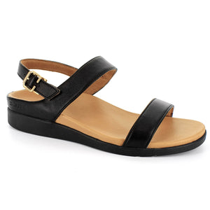 STRIVE LUCIA Back Strap Sandal with Arch Support - Black