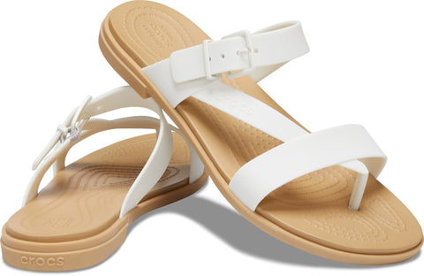 CROCS TULUM Toe Post Sandal Oyster / Tan - Ladies