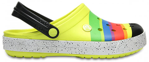 SALE - Crocs Crocband Colour-Burst Clog - Tennis Ball Green/Black - 205109-730