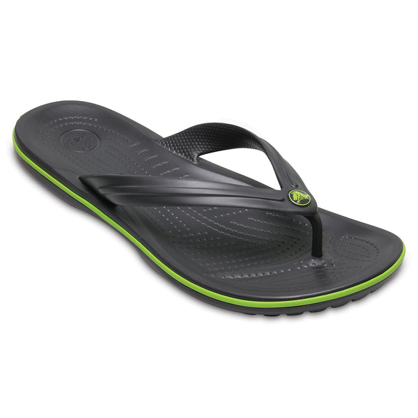BUY 2 PAIRS FOR £20 - Crocs Crocband Flip Mens - Graphite/ Volt Green - 11003-0A1