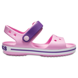 SALE - Crocs KIDS Crocband Sandal - Carnation/Blue Violet- 12856-6ML