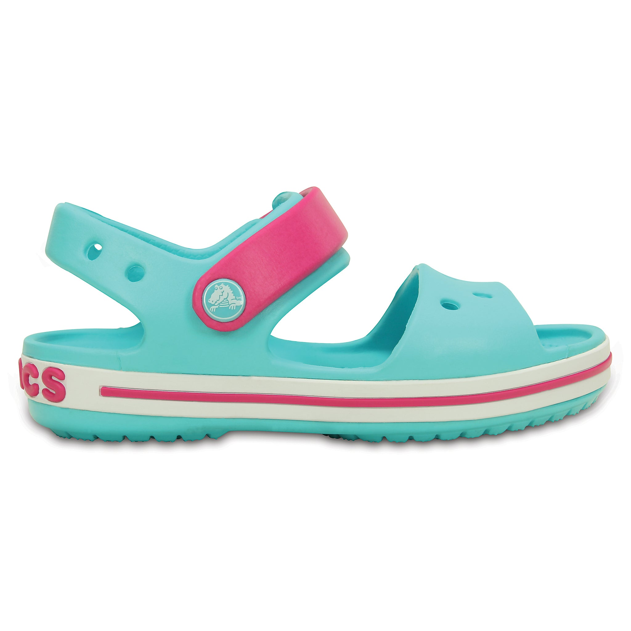 SALE - Crocs KIDS Crocband Sandal - Pool / Candy Pink - 12856-4FV
