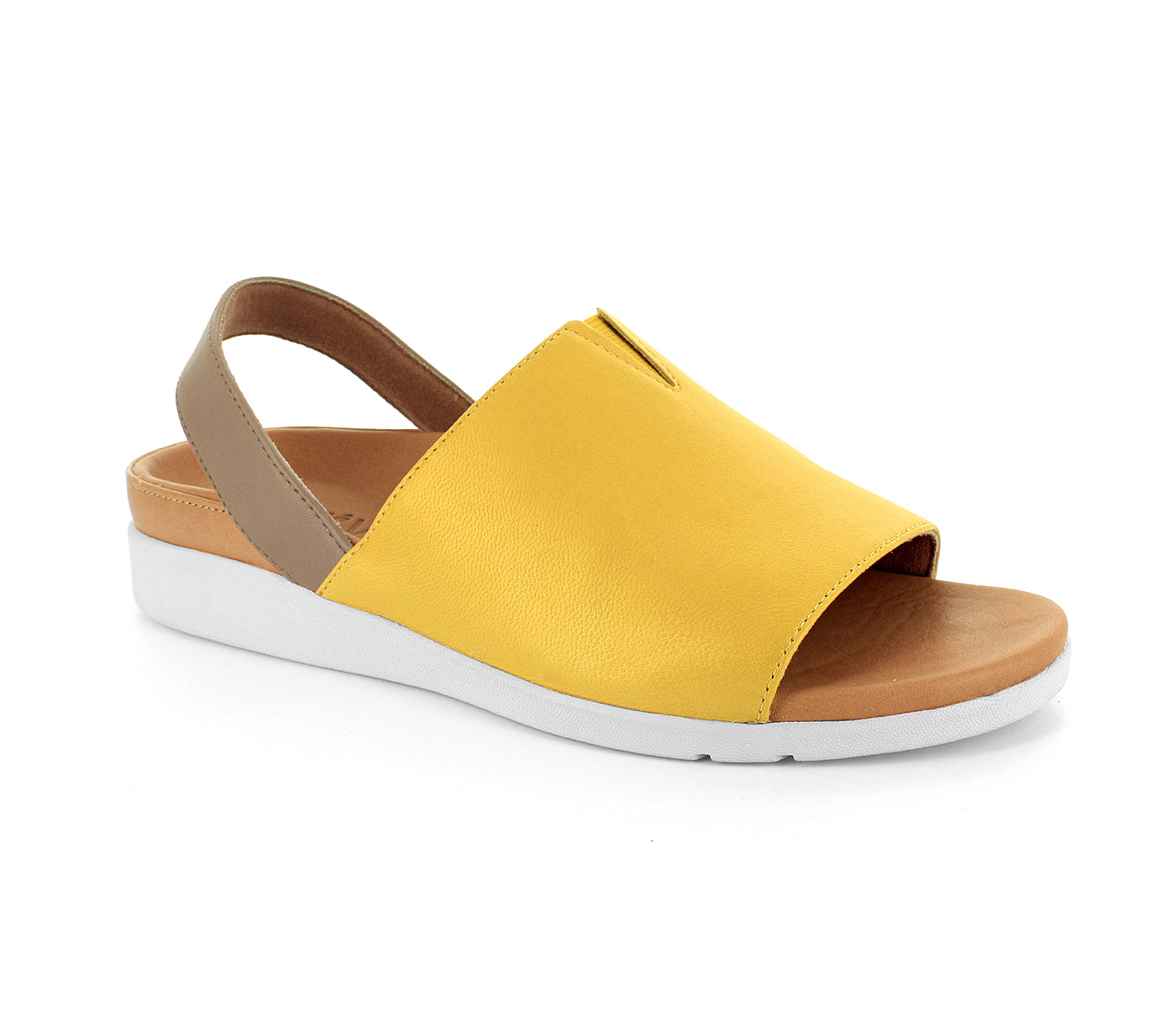 STRIVE MARA Back Strap Sandal with Arch Support - Honey Gold