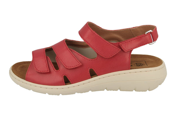 EASY B MONA Wide Fit Sandal - Red