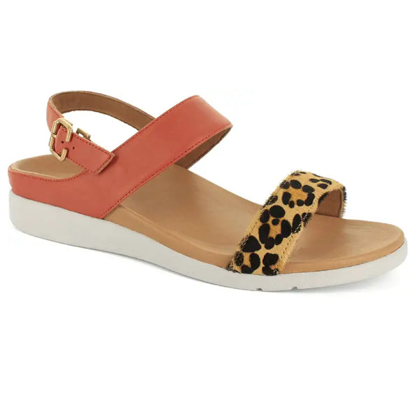 STRIVE LUCIA Back Strap Sandal with Arch Support - Sunset Leopard