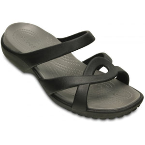 SALE - Crocs Meleen Twist Sandal - Black/Smoke - UK 3