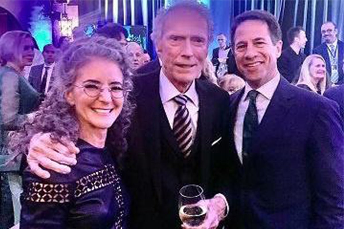 Dr. Diane Alexander, Clint Eastwood and Kent Alexander at the premiere of Richard Jewell