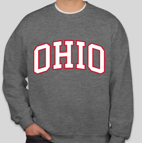 Ohio Crewneck Sweatshirt (Dark Gray)