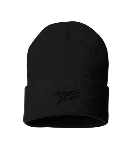 MV BEANIE BLACK ON BLACK