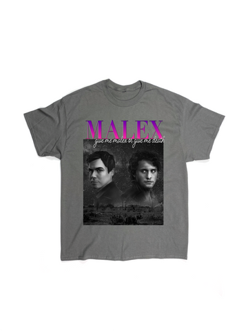 GIVE ME MALEX OR GIVE ME DEATH GREY RAP TEE