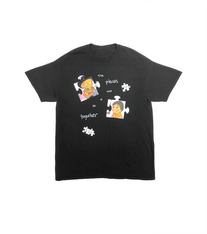 THE PIECES WANT TO BE TOGETHER TEE BLACK