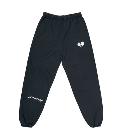 BAD AT RELATIONSHIPS SWEATPANT BLACK