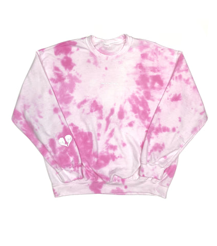 BAD AT RELATIONSHIPS CREW NECK SWEATSHIRT TIE DYE