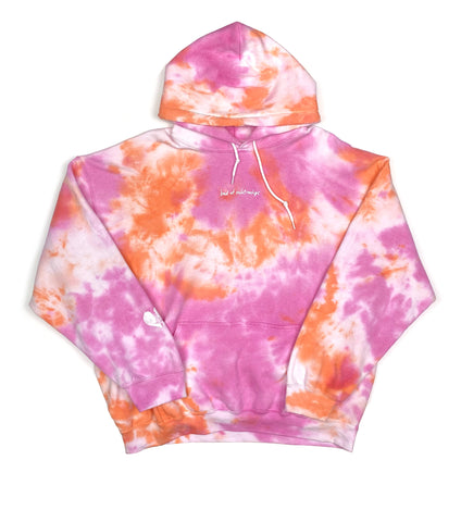 BAD AT RELATIONSHIPS HOODIE TIE DYE