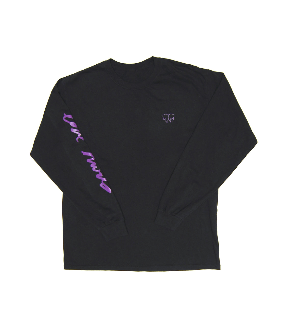 LOVE HURTS LONG SLEEVE BLACK TEE