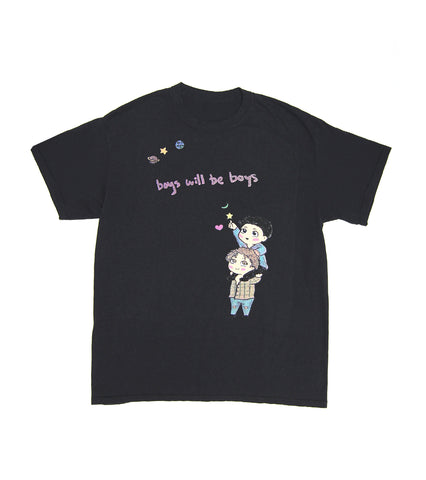 BOYS WILL BE BOYS TEE BLACK