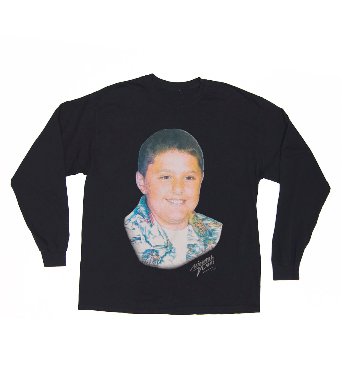 HAPPY BOY LONG SLEEVE BLACK TEE BLACK