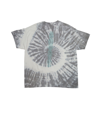 BLACK & WHITE TEE TIE DYE IN TURQUOISE