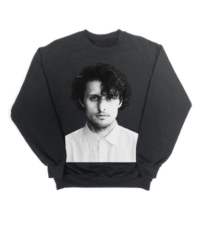 BLACK & WHITE CREWNECK SWEATSHIRT BLACK
