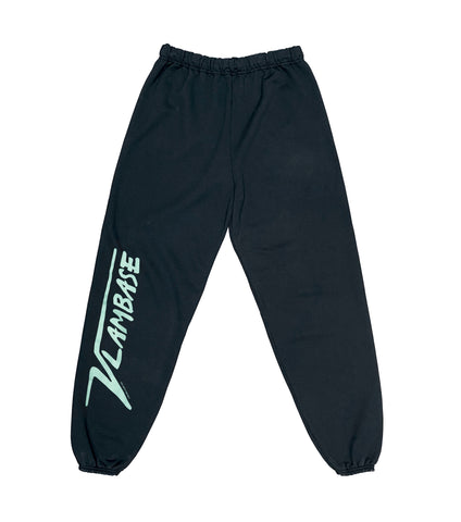 MICRO VLAMIS VLAMBASE SWEATPANTS BLACK IN TURQUOISE