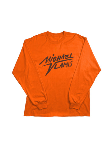 CARVED MV SIGNATURE LONG SLEEVE TEE ORANGE