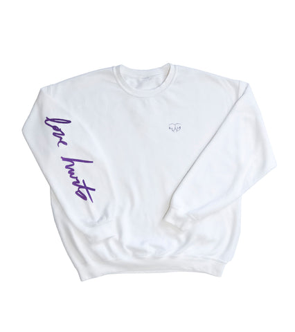LOVE HURTS CREWNECK SWEATSHIRT WHITE