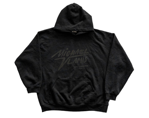 MICHAEL VLAMIS SIGNATURE HOODED SWEATSHIRT BLACK ON BLACK