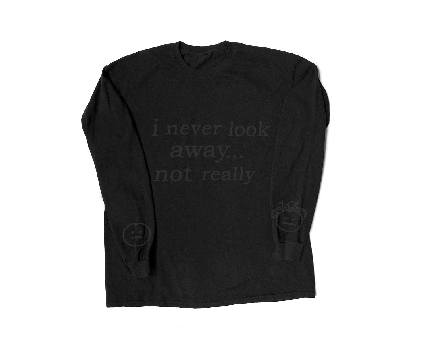 NOT REALLY LONG SLEEVE BLACK ON BLACK