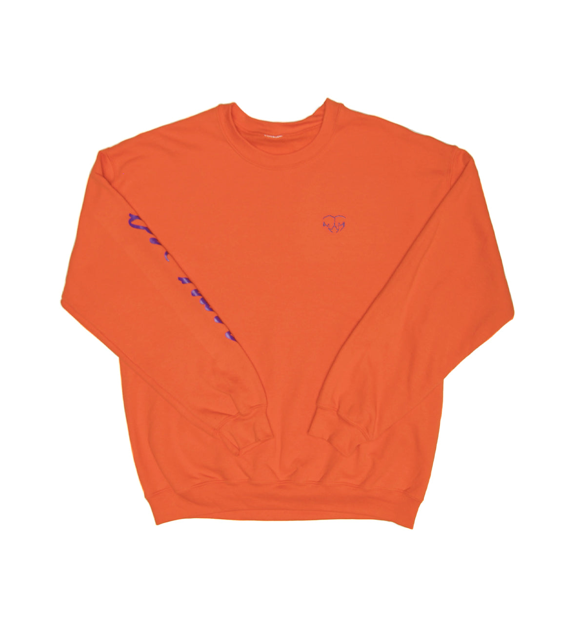 LOVE HURTS CREWNECK SWEATSHIRT ORANGE
