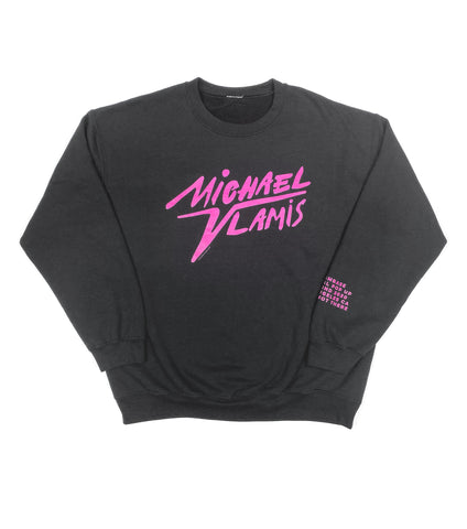 DIGITAL POP UP SIGNATURE CREWNECK BLACK