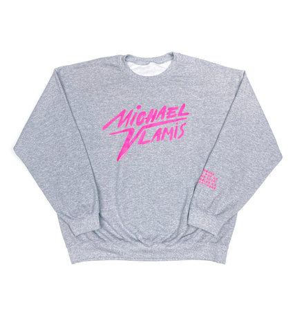 DIGITAL POP UP SIGNATURE CREWNECK GREY