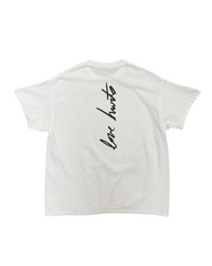 LOVE STILL HURTS TEE BLACK ON WHITE