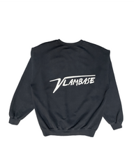 VLAMBASE CREW NECK SWEATSHIRT CREAM ON BLACK