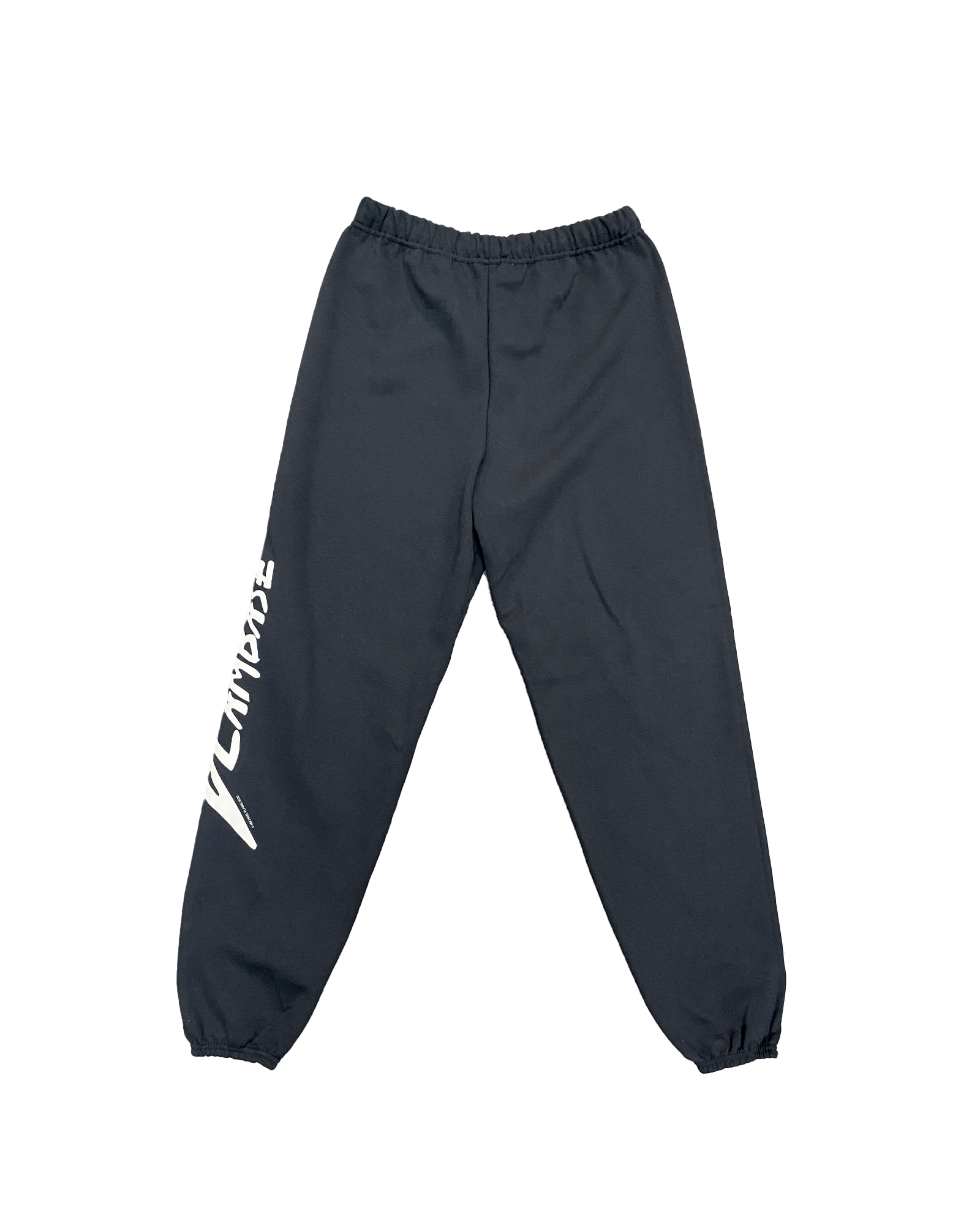 VLAMBASE SWEATPANTS CREAM ON BLACK