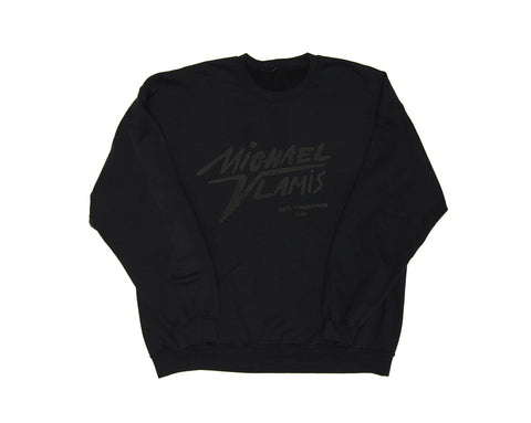 MICHAEL VLAMIS SIGNATURE CREWNECK SWEATSHIRT BLACK ON BLACK
