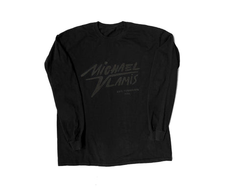 MICHAEL VLAMIS SIGNATURE LONG SLEEVE BLACK ON BLACK