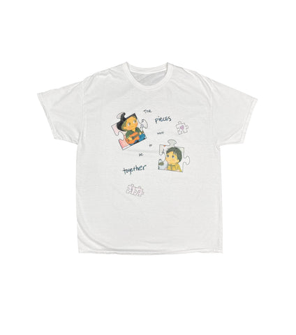 THE PIECES WANT TO BE TOGETHER TEE WHITE
