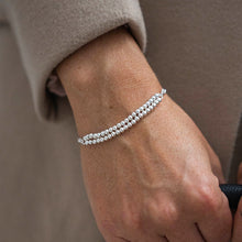 Load image into Gallery viewer, Elegant layered 925 sterling silver ball bracelet