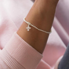 Load image into Gallery viewer, Fashionable 925 sterling silver stretch bracelet with cross charm