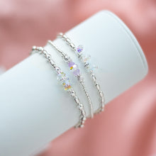 Load image into Gallery viewer, Exclusive 925 sterling silver stretch bracelet stack full of colours, sparkle and elegance