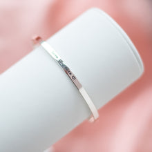 Load image into Gallery viewer, Romantic 925 sterling silver bangle/cuff with an engraved love message