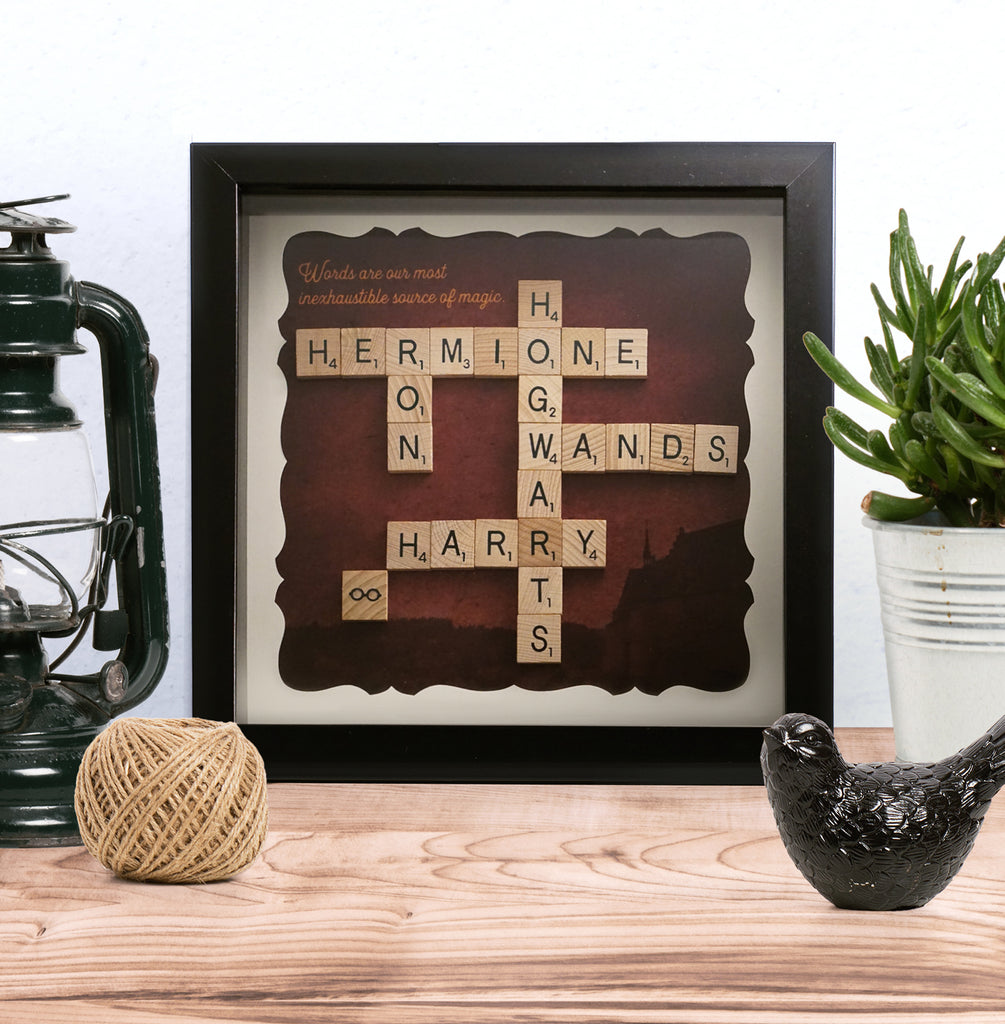 FRAME 9x9 - SCRABBLE ART - HARRY POTTER INSPIRED – Weekend Standard