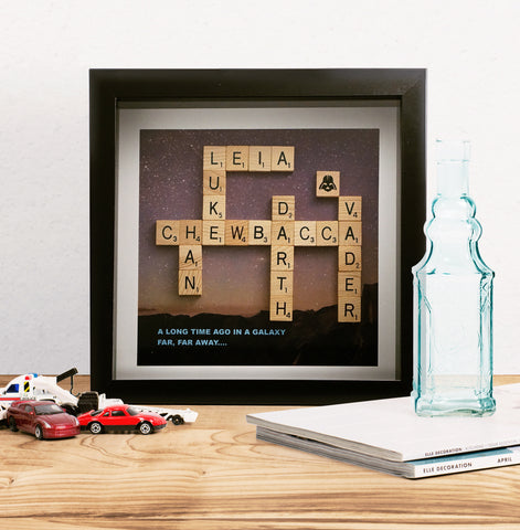 Frame 9x9 Scrabble Art Harry Potter Inspired Weekend Standard