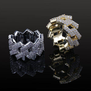 Prong Set Diamond Cuban Ring
