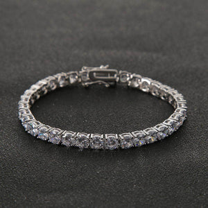 3mm Tennis Chain Bracelet in White Gold