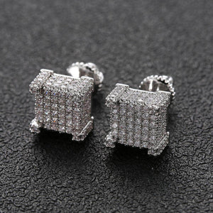 Sterling Silver Triple Row Earrings