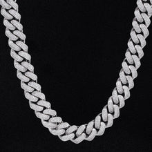 Load image into Gallery viewer, White Gold 18mm Diamond Cuban link