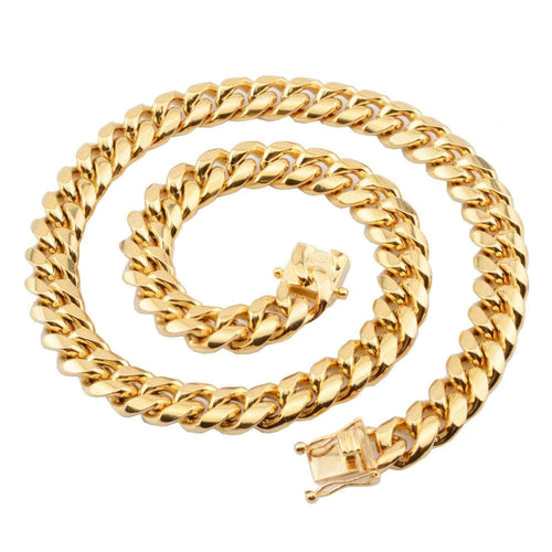 12mm Gold Cuban Link