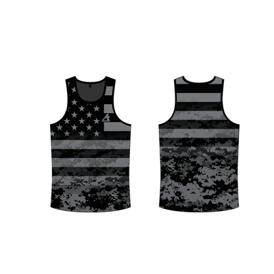 Digital Camo Tank Top-Grey